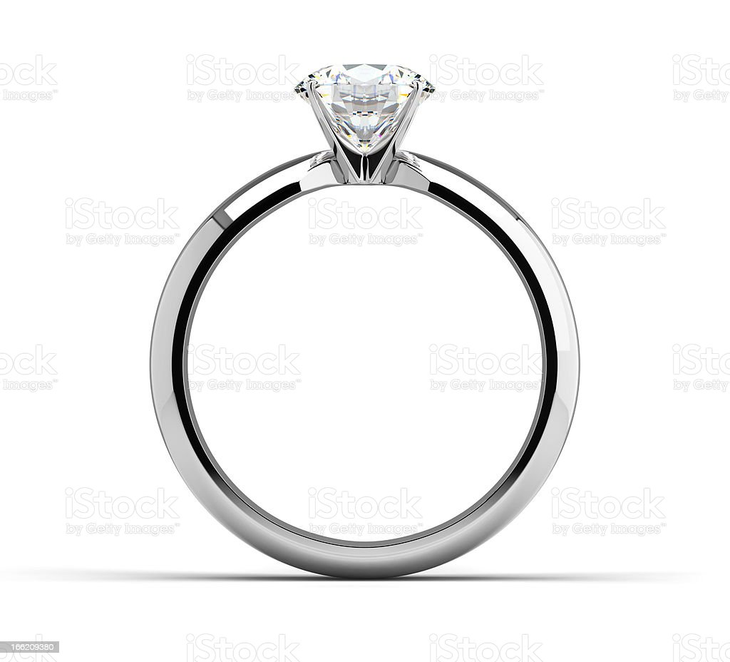 Single Diamond Ring royalty-free stock photo