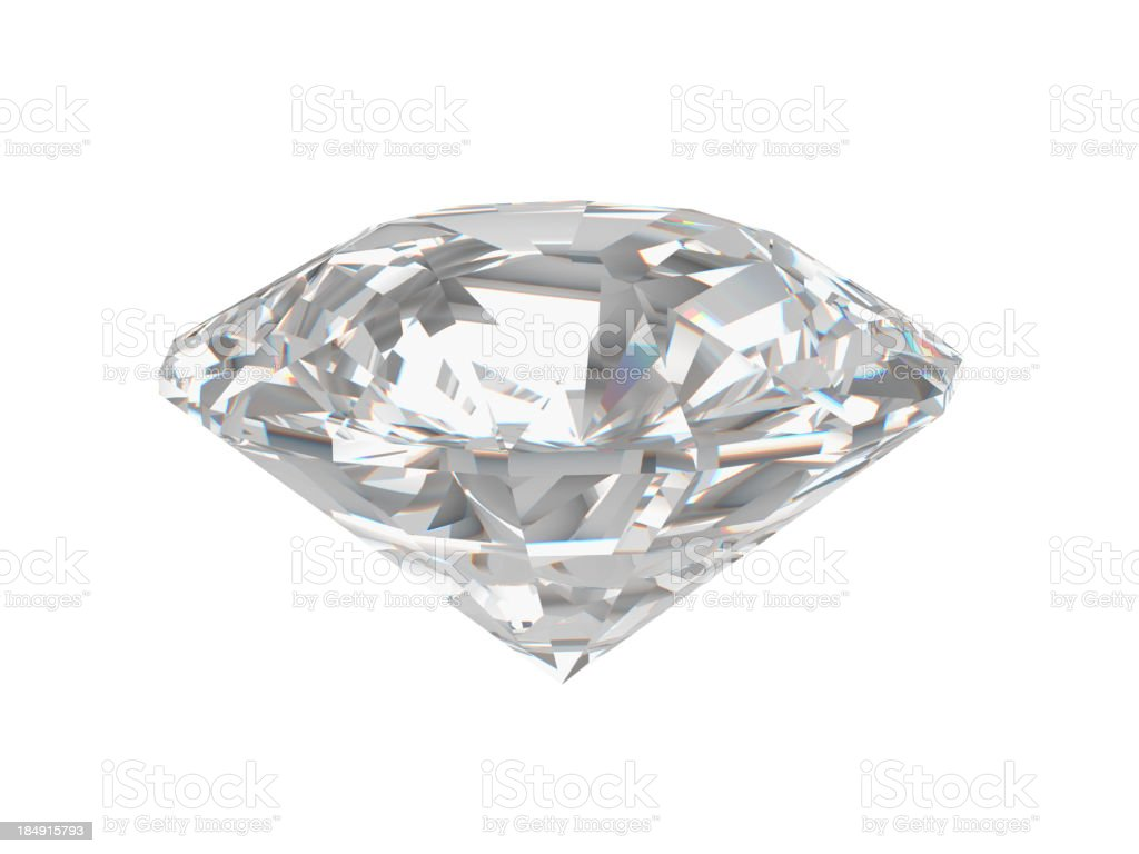 Single Diamond with Clipping Path royalty-free stock photo