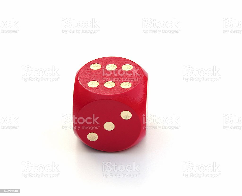 Single dice royalty-free stock photo
