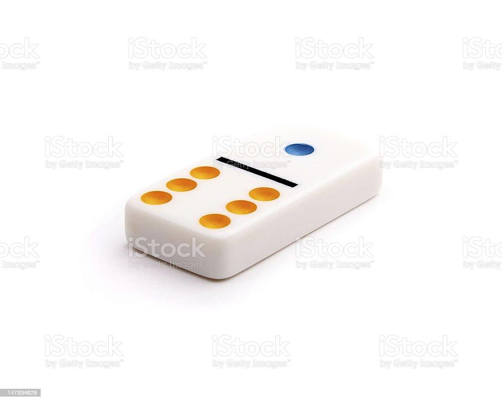 single domino block royalty-free stock photo