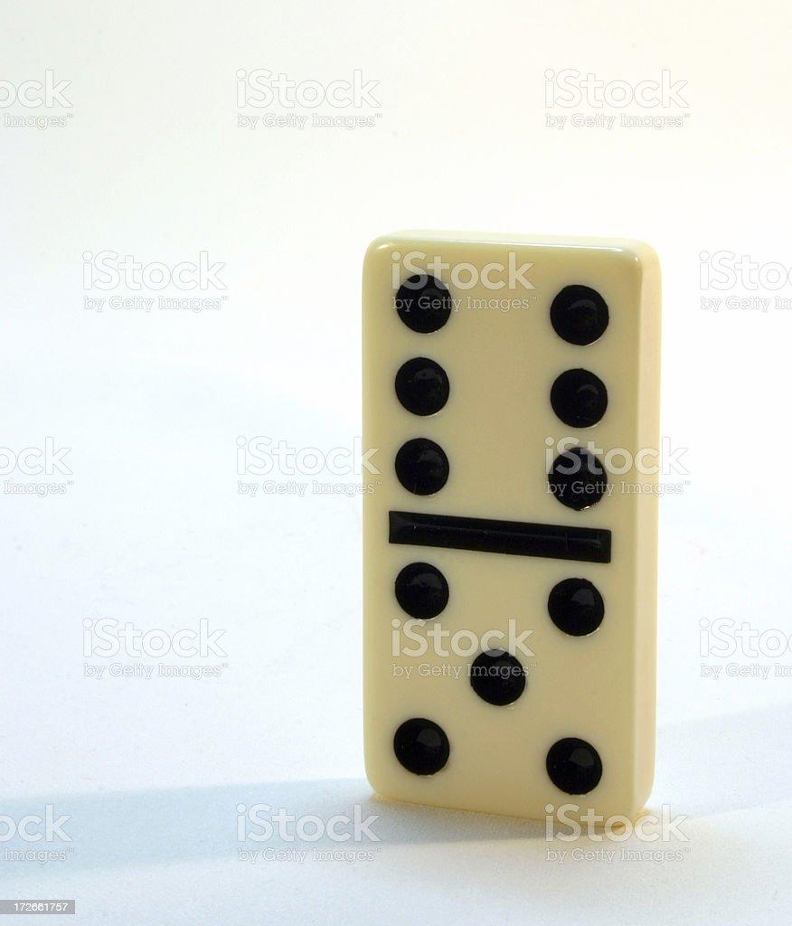 Single Domino royalty-free stock photo