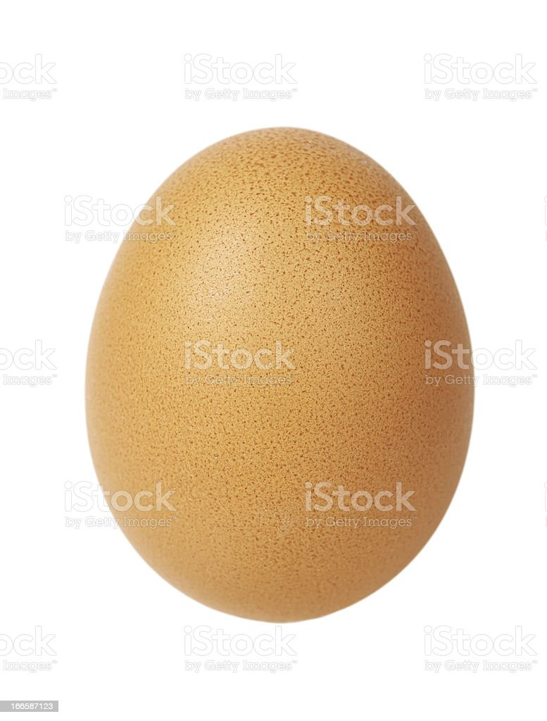 Single egg isolated royalty-free stock photo