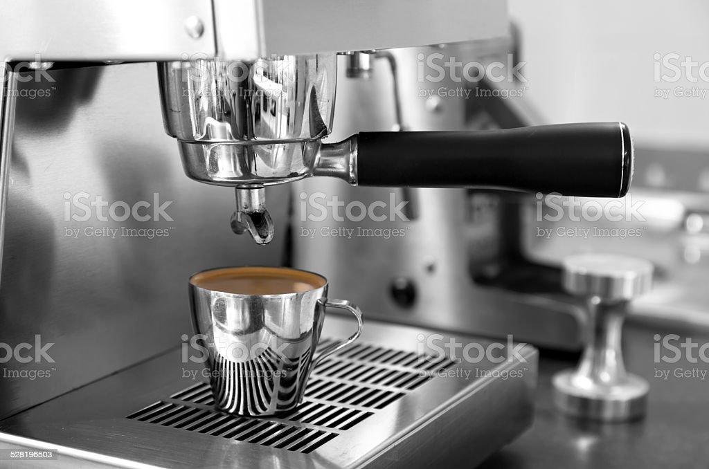 Single espresso shot stock photo