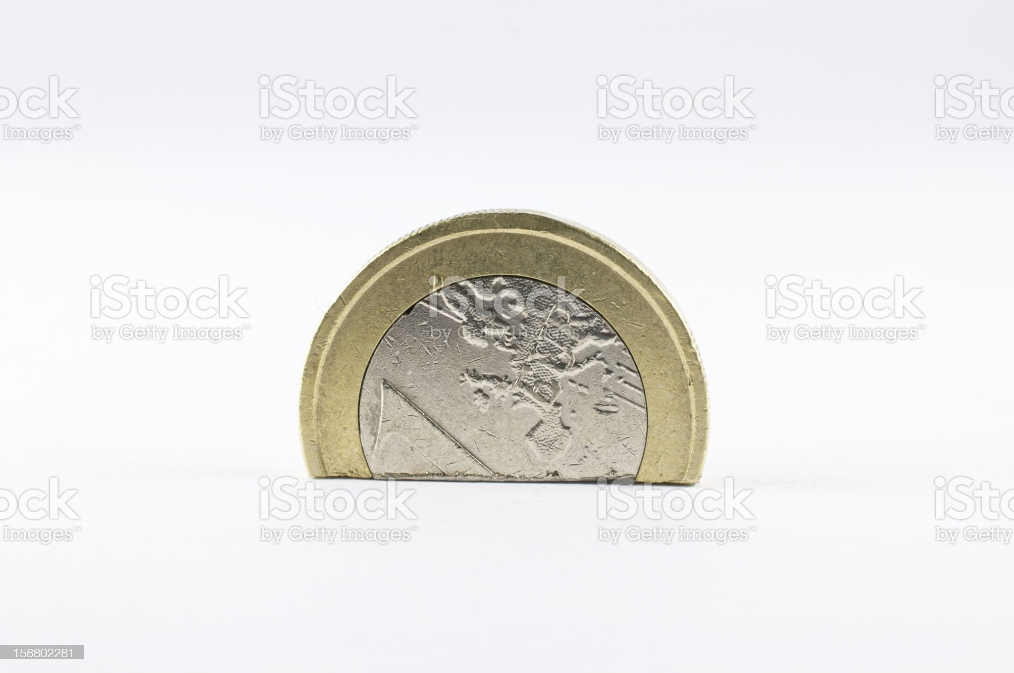 single European currency plunges into crisis royalty-free stock photo