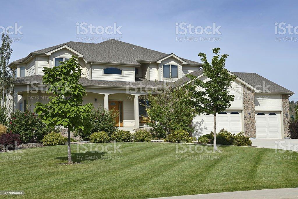 Single Family Home, USA royalty-free stock photo