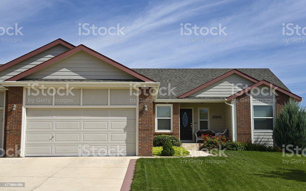 Single Family Home, USA stock photo