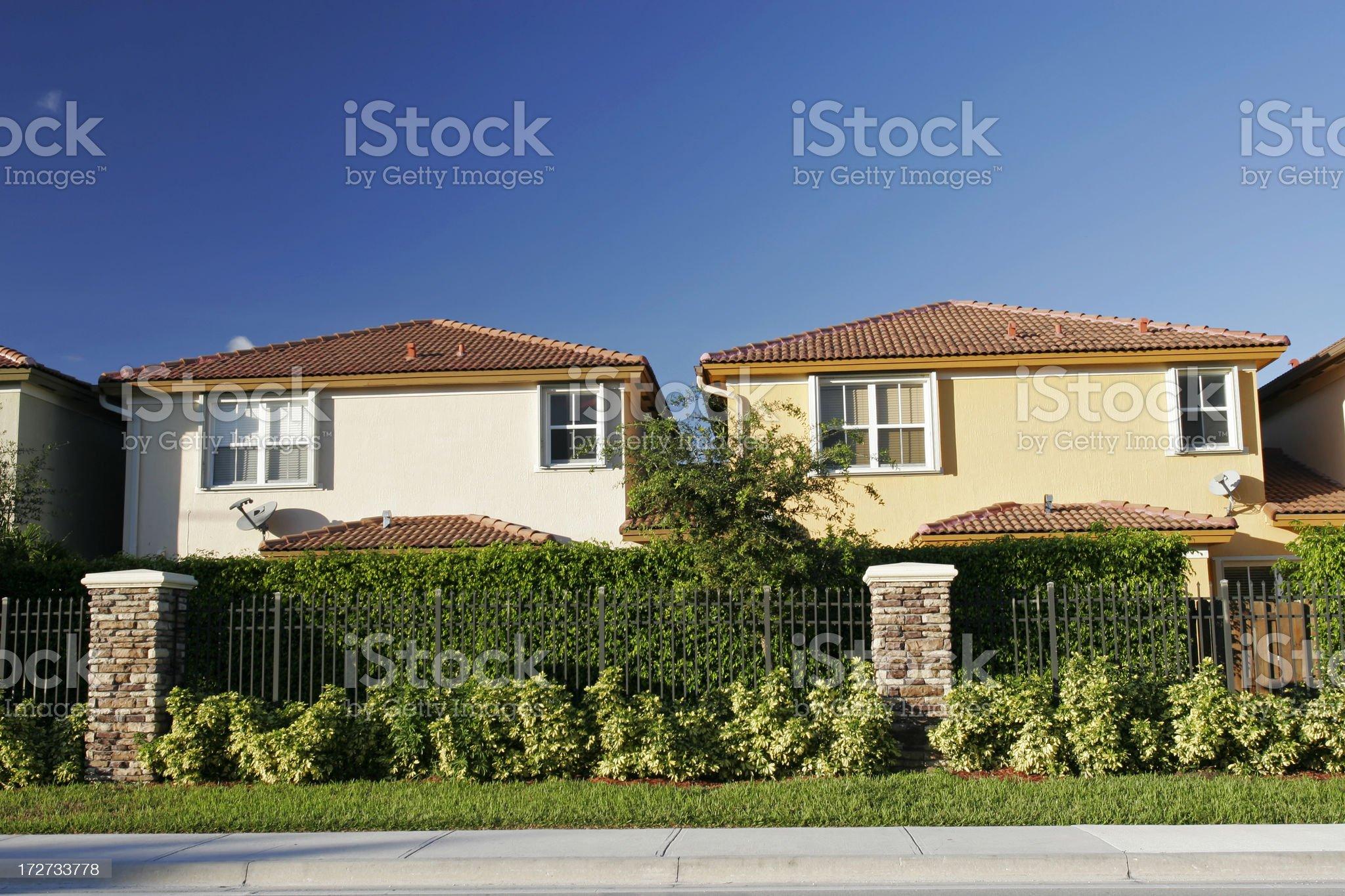 Single Family Houses royalty-free stock photo