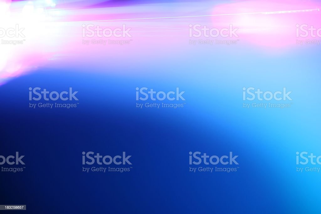 Single fiber optic strand royalty-free stock photo
