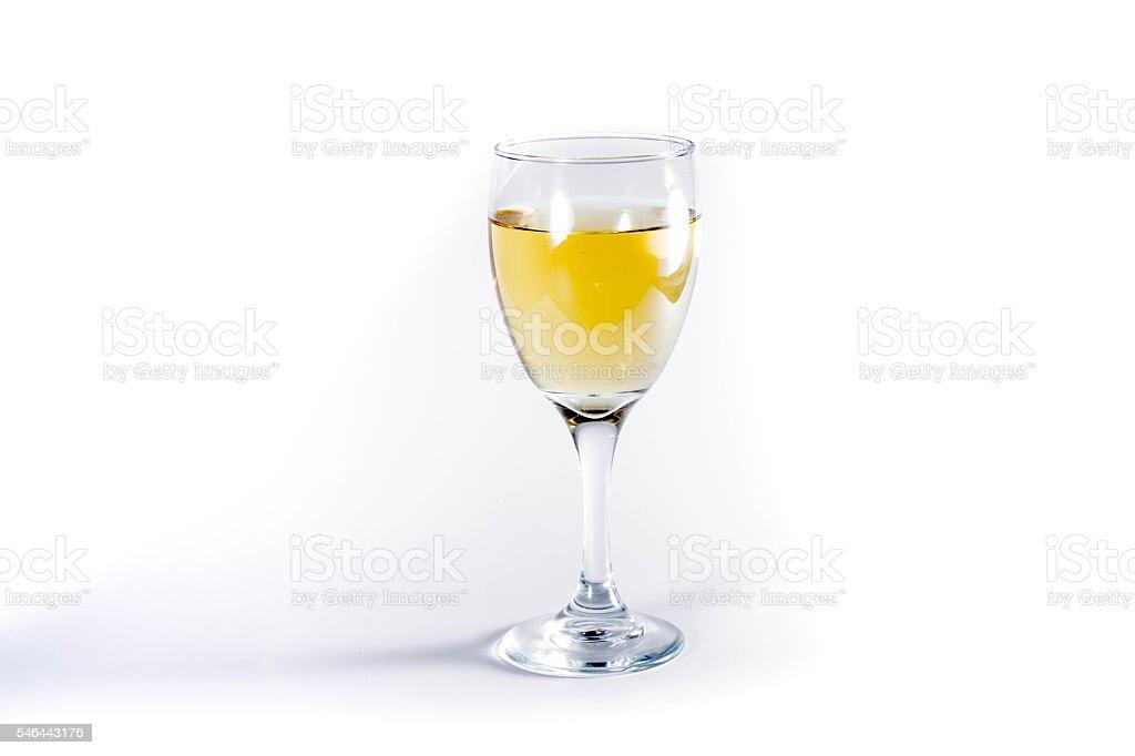 Single filled wine class stock photo