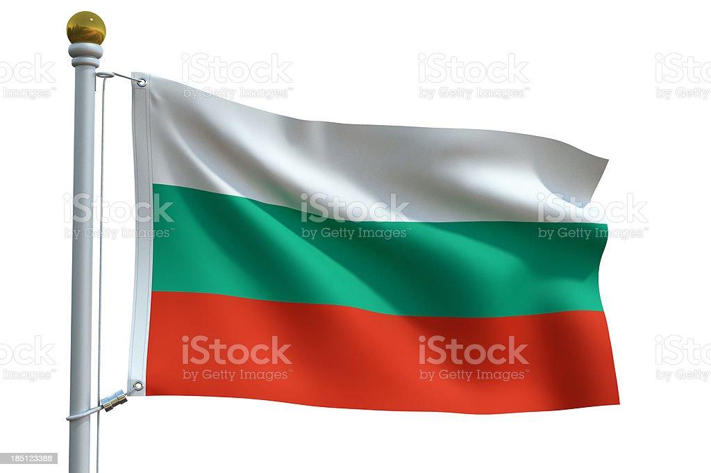 Single Flag - Bulgaria stock photo