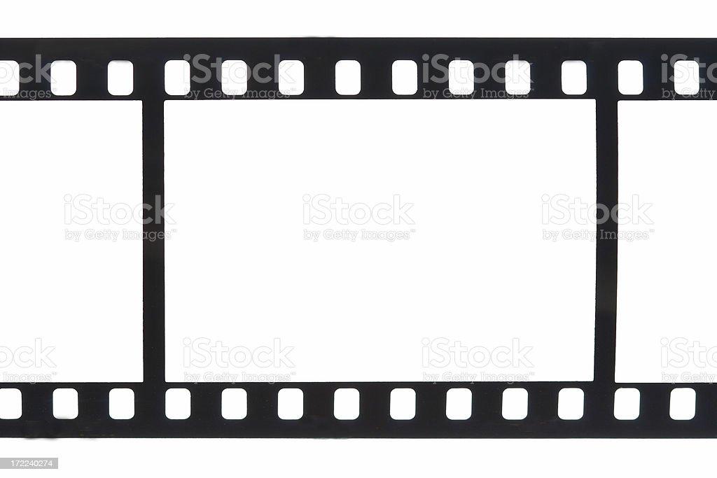 Single Frame 35mm Film Sprockets (Isolated) stock photo