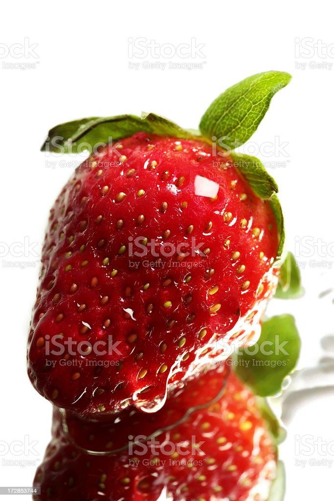 Single Fresh Strawberry - XXL. royalty-free stock photo