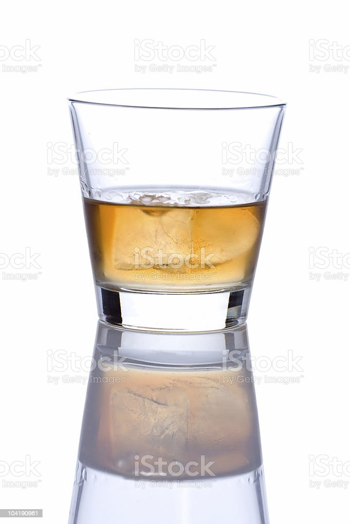 Single glass of alcohol royalty-free stock photo