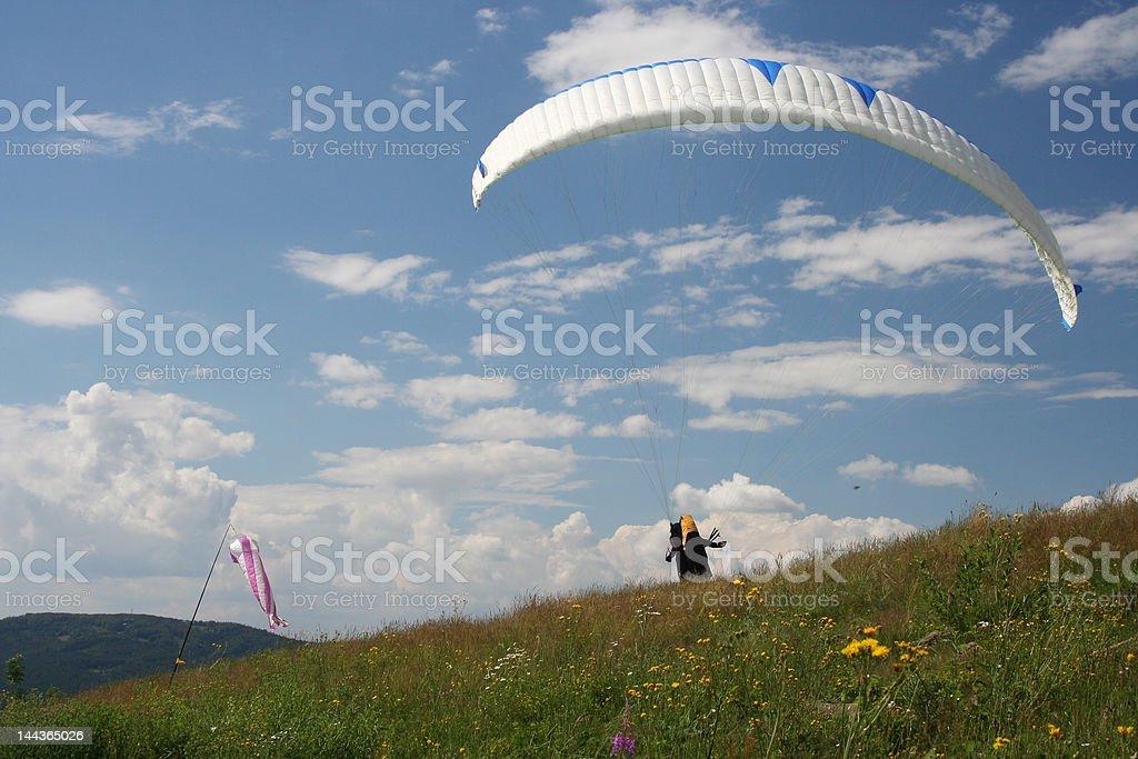 Single glider starting royalty-free stock photo