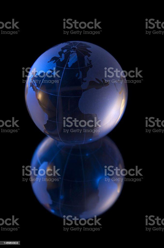 Single Globe royalty-free stock photo
