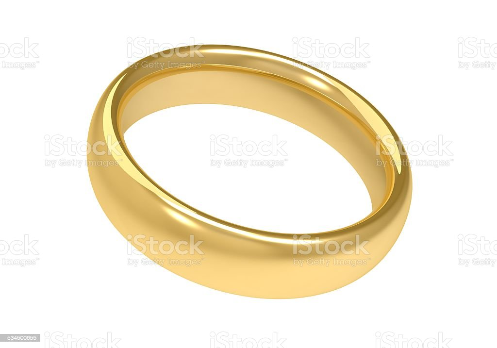 single gold ring stock photo