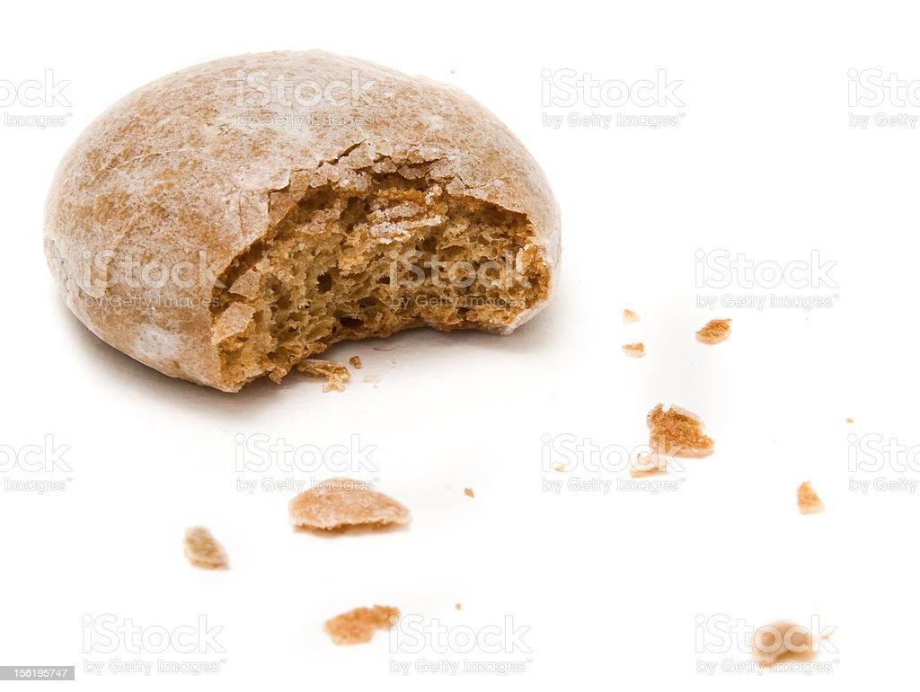Single honey biscuit stock photo