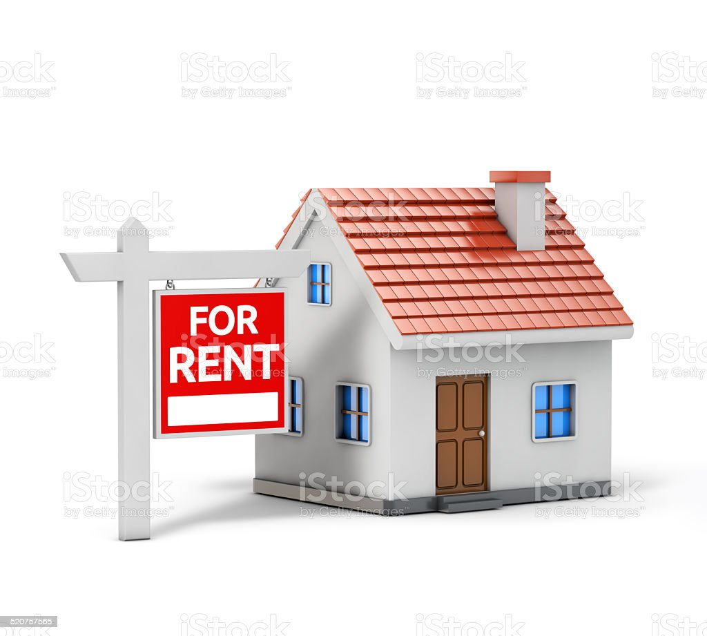 single house for rent stock photo