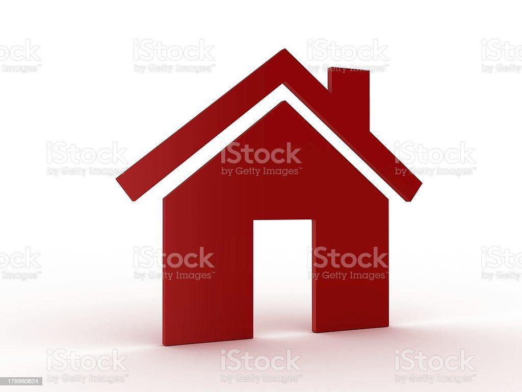 Single House Model Icon royalty-free stock photo