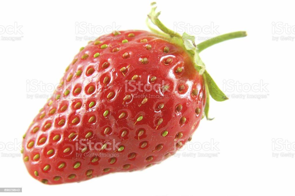 Single isolated strawberry stock photo