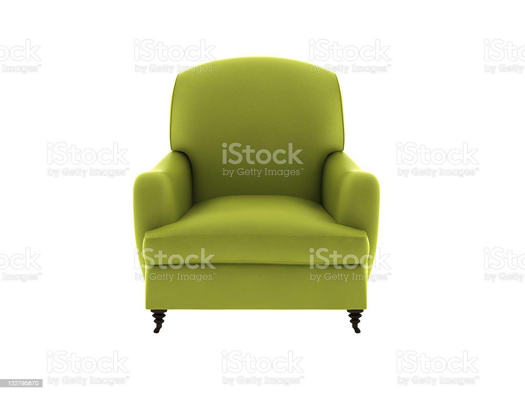 single leather sofa stock photo