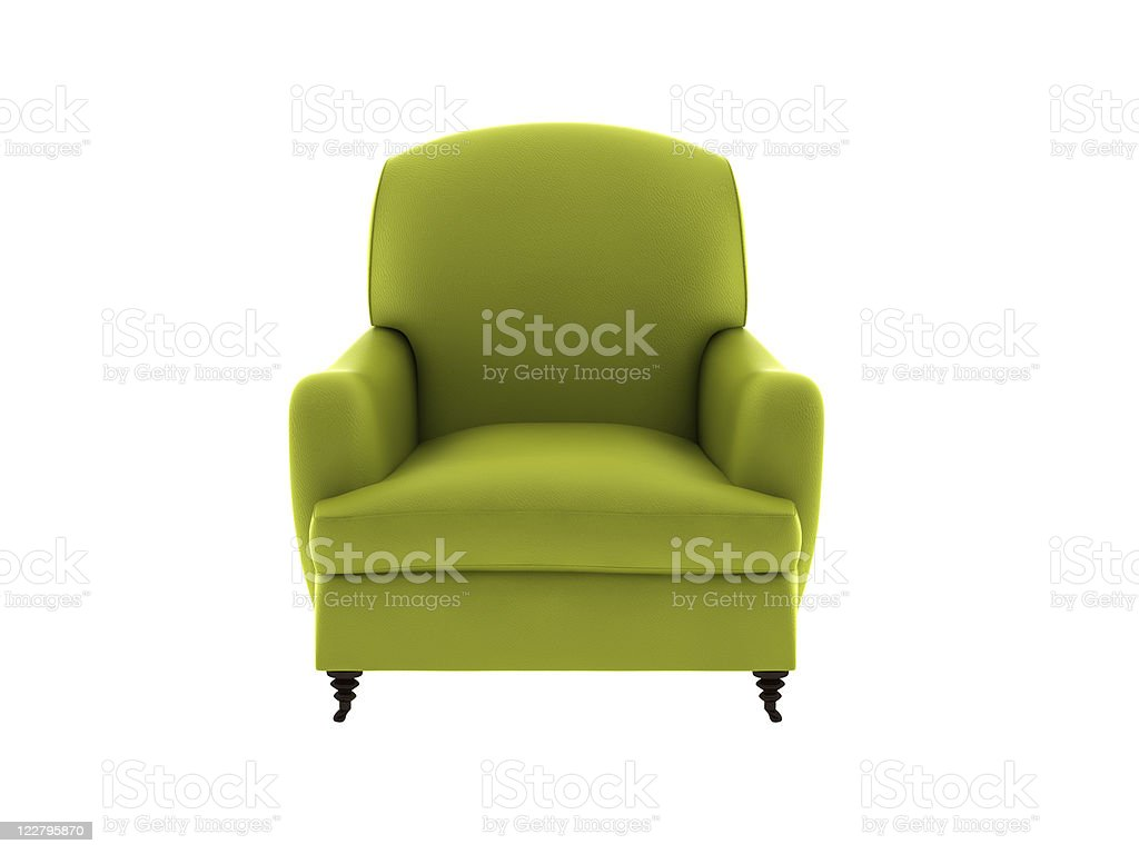 single leather sofa stock photo