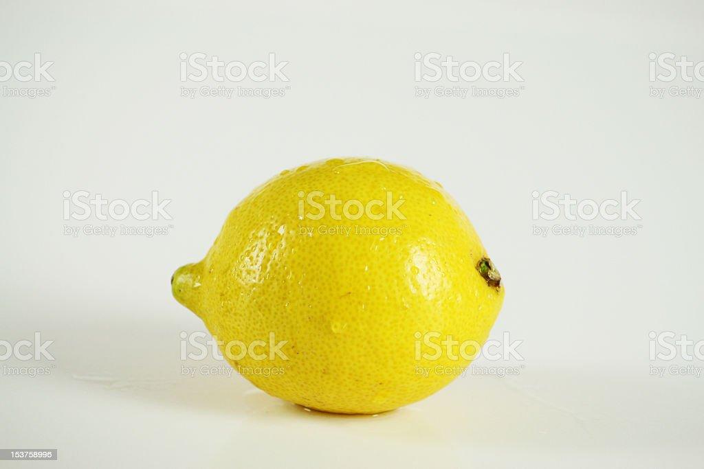 Singolo limone foto stock royalty-free
