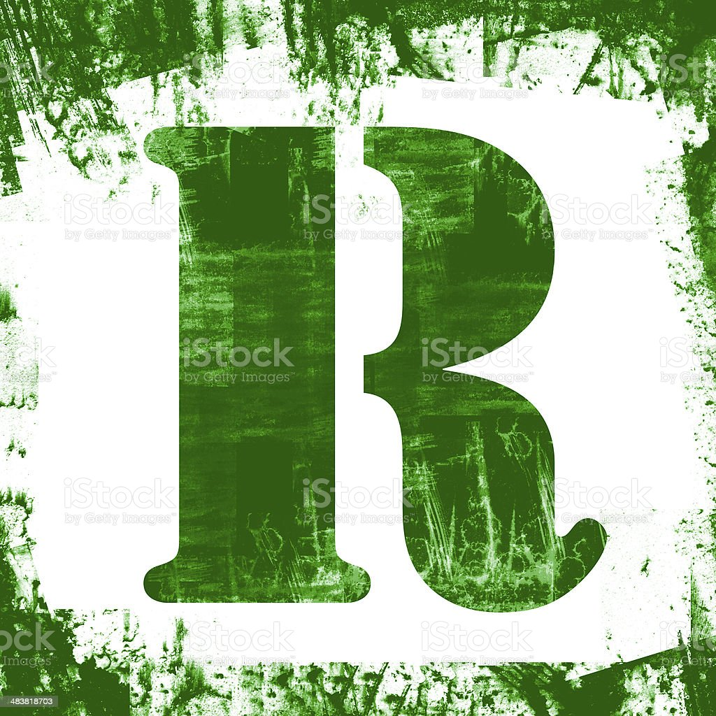 Single Letter R Stamp, Grunge Design royalty-free stock photo