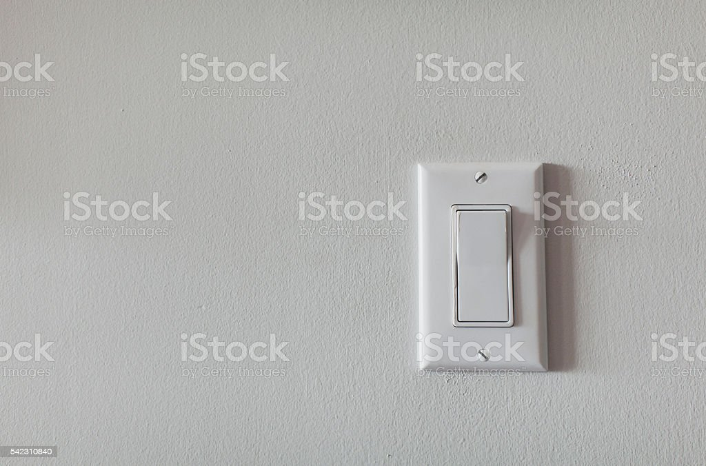 Single Light Switch stock photo