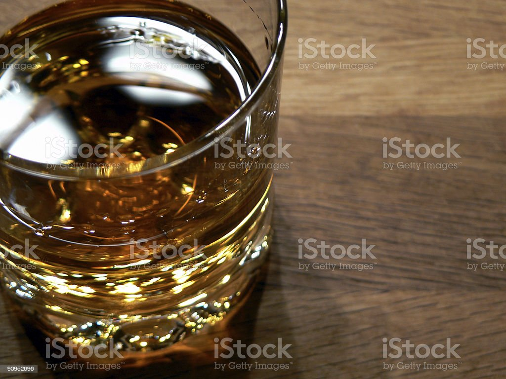 Single malt Whiskey in a glass royalty-free stock photo