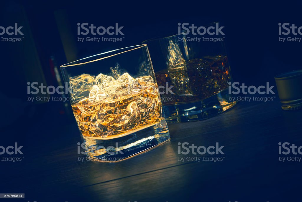 Single Malt Whiskey stock photo