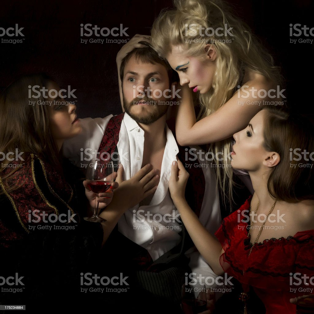 Single Man stock photo