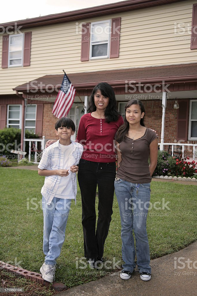 Single Mom royalty-free stock photo