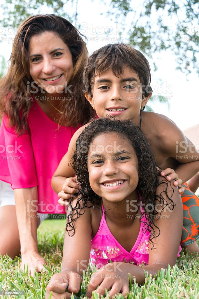 Single mother family royalty-free stock photo