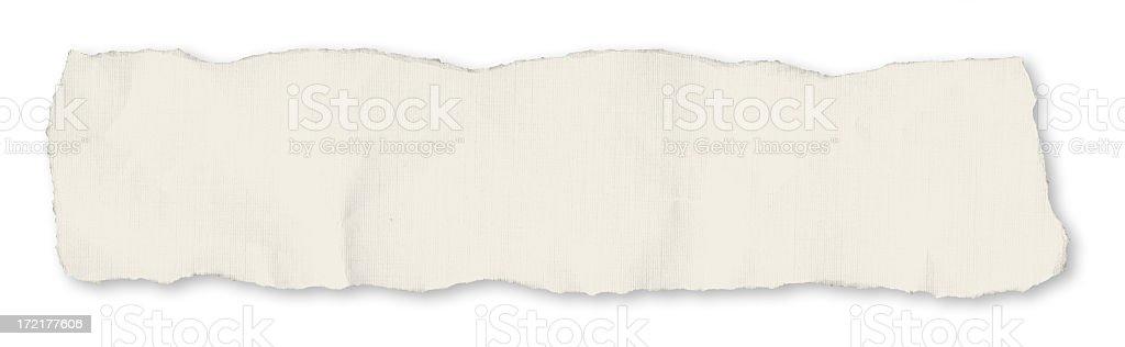 Single newspaper tear - on white stock photo
