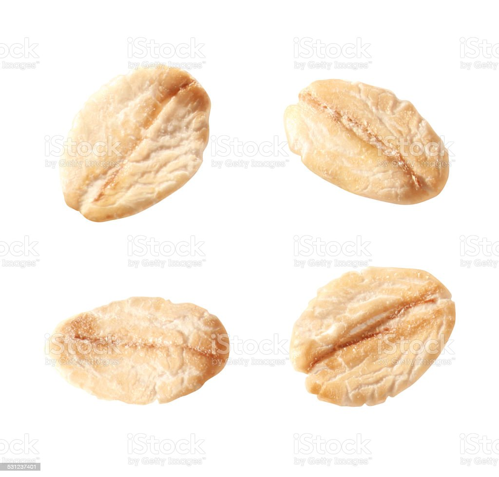 single oat flakes stock photo