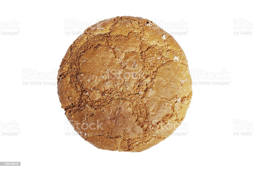 Single oatmeal cookie royalty-free stock photo