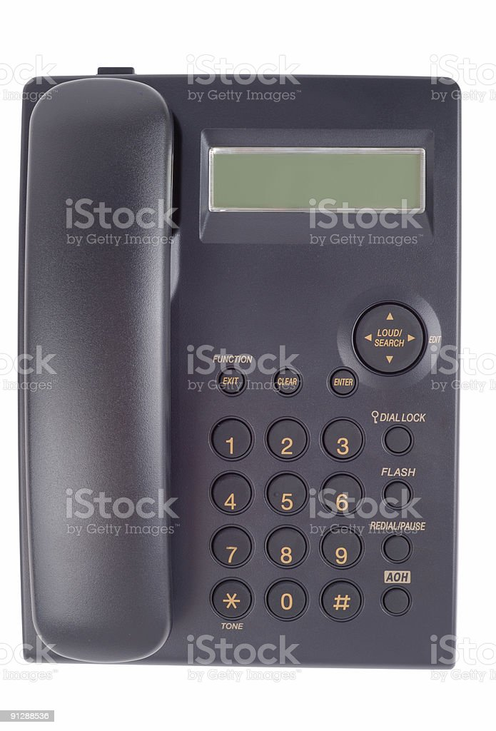 Single Office Phone stock photo