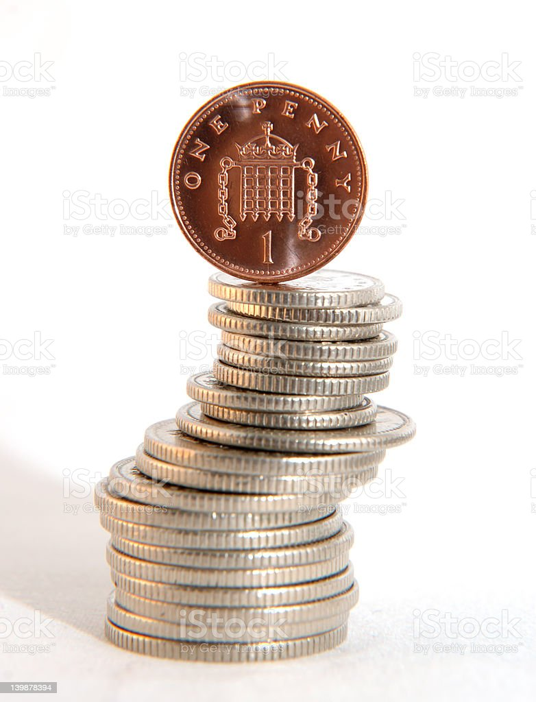 Single one pence piece royalty-free stock photo