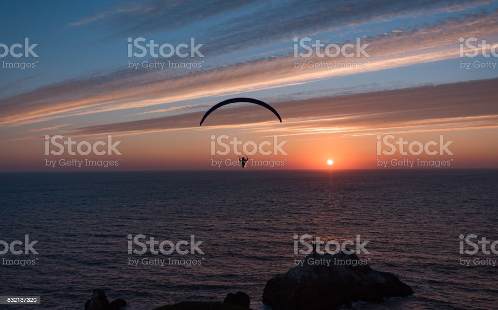 A Single ParaGlider stock photo
