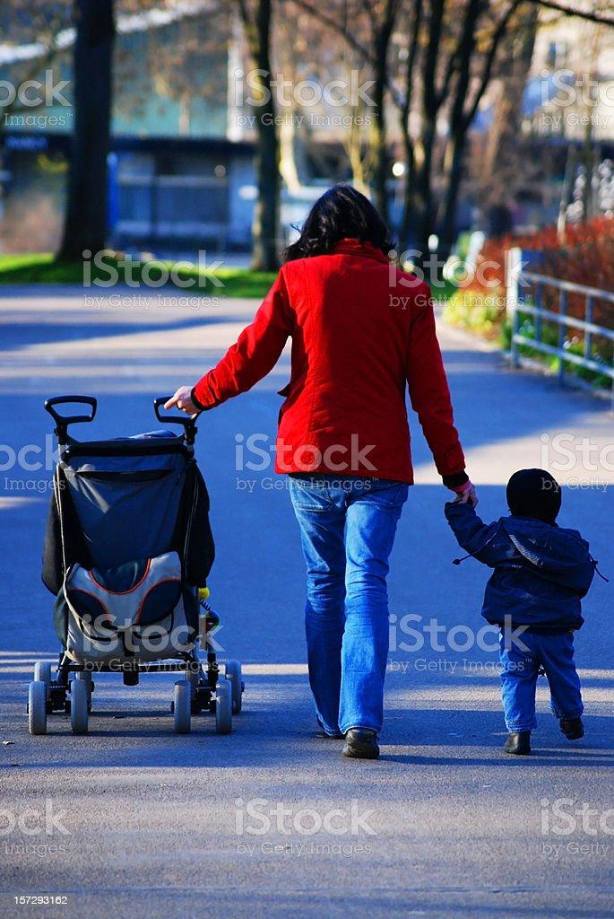 Single parent mother - alleinerziehende Mutter royalty-free stock photo