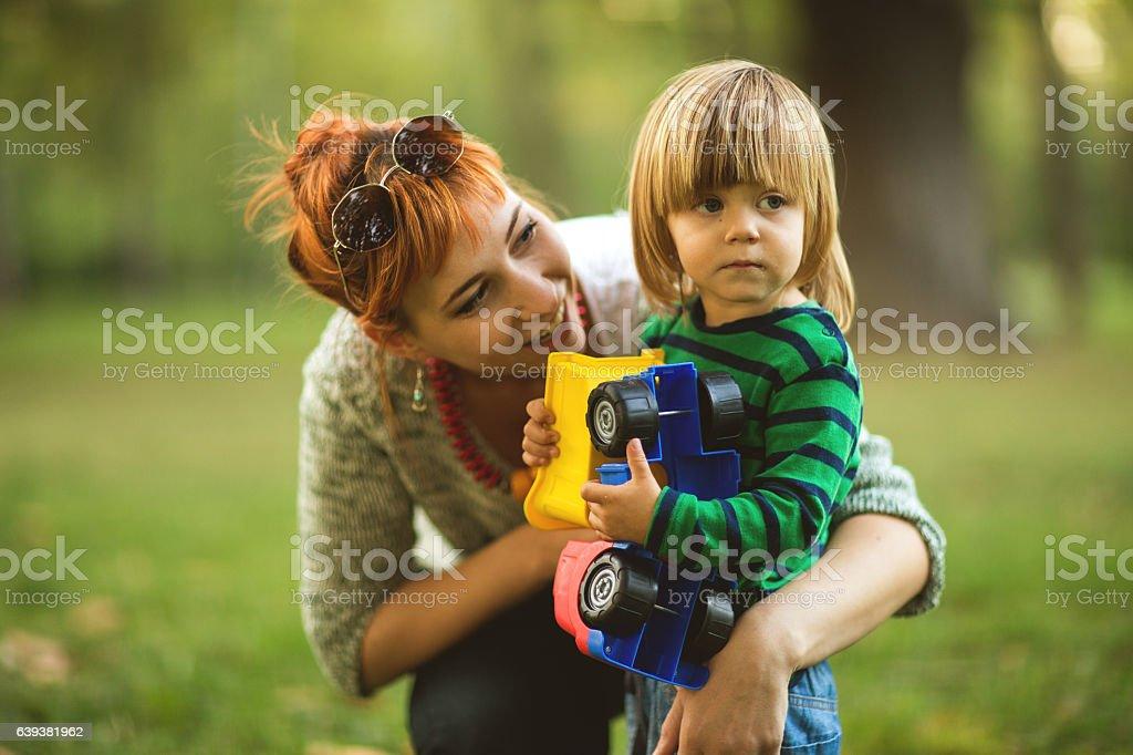 Single parenting stock photo