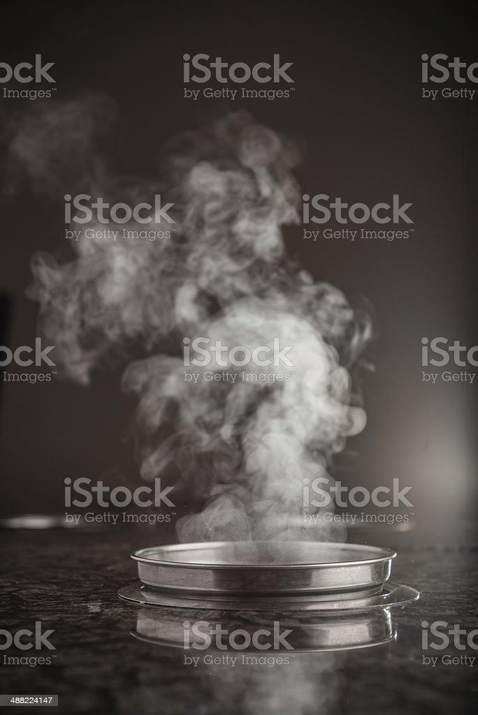 Single person hot pot stock photo
