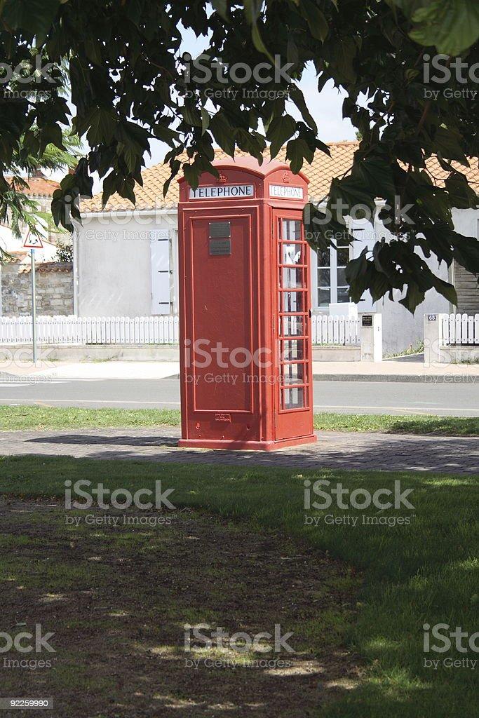 Single Phone Box in France stock photo