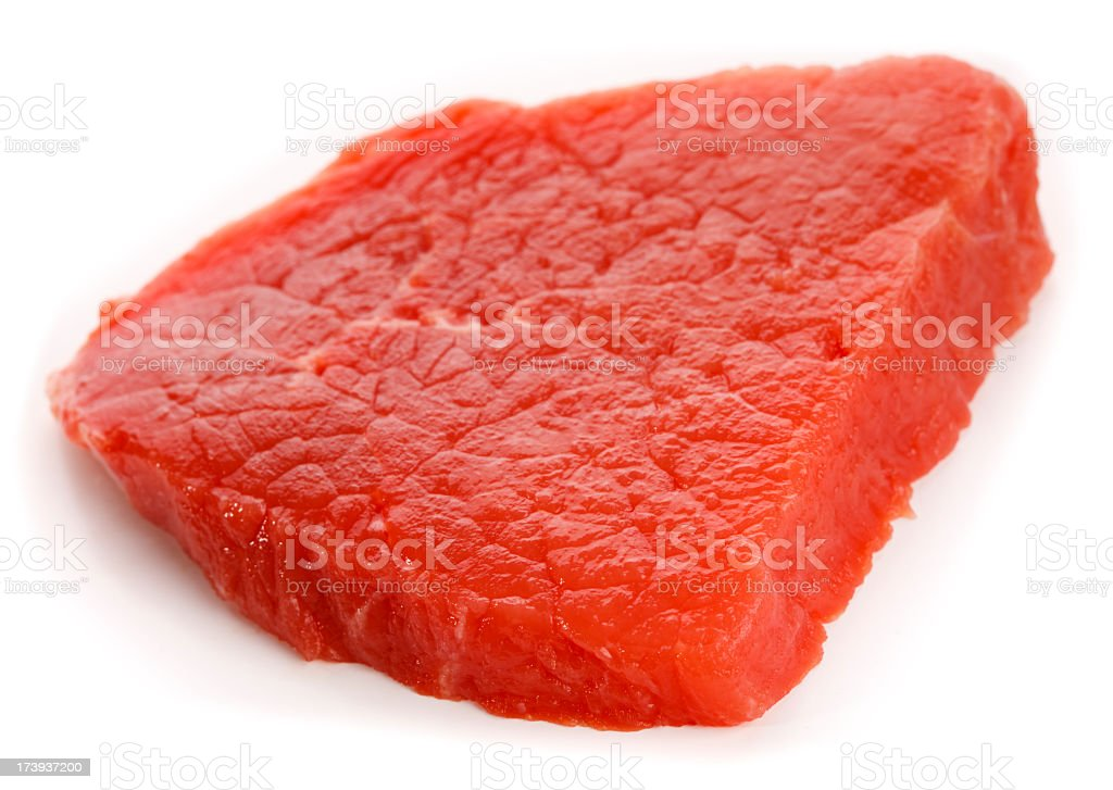 Single Piece of Lean Beef stock photo