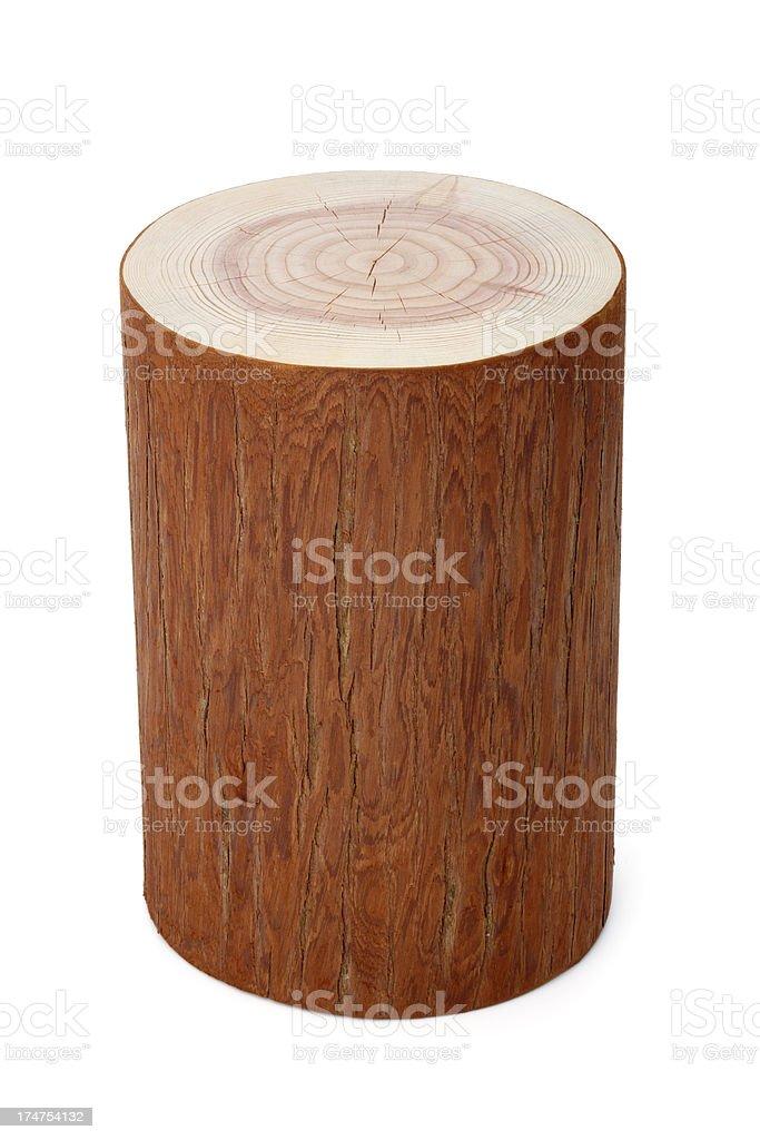 single piece of wood royalty-free stock photo