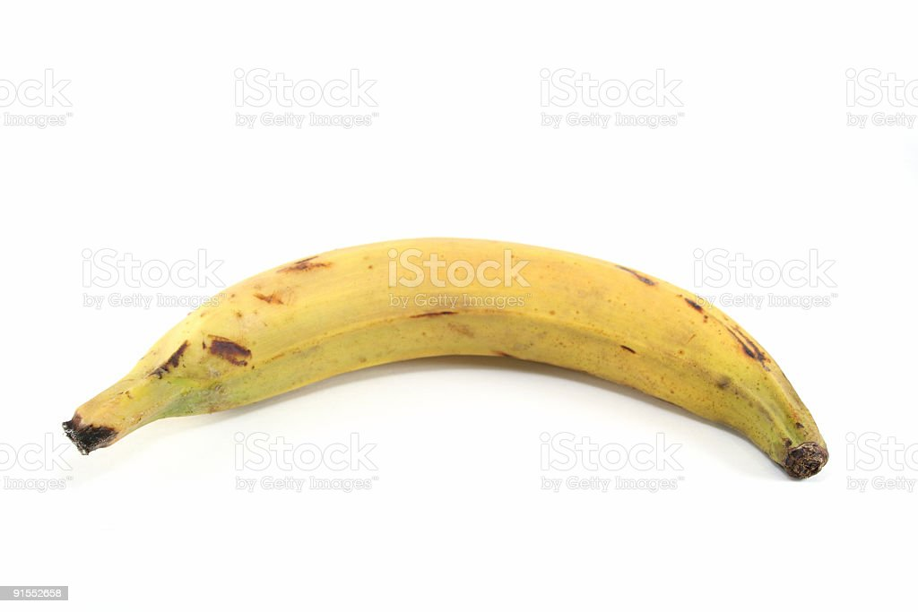 Single Plantain royalty-free stock photo