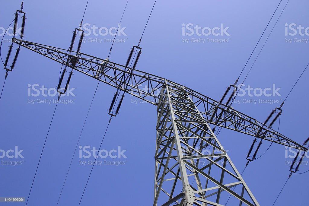 Single Power Pole royalty-free stock photo
