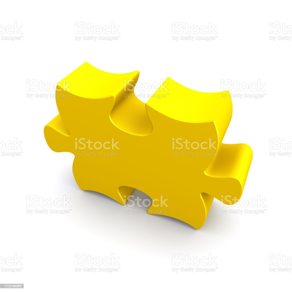 Single Puzzle Piece royalty-free stock photo