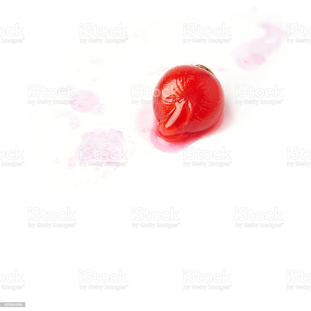 Single Red Currant isolated over white background stock photo